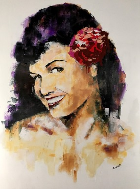 Betty Page Painting