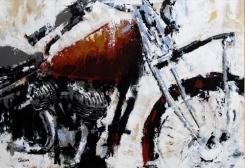 Custom Motorcycle fine art