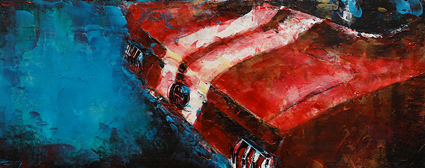 Classic Ford Mustang painting