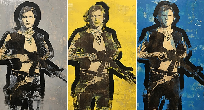 Han solo tattoo painting by Sinclair