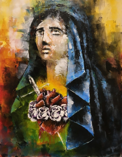 Sacred Heart of Mary painting by Sinclair