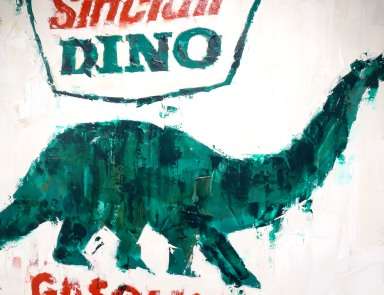 Vintage Sinclair Sign painting by Sinclair
