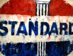 Vintage Standard gas sign painting by Sinclair
